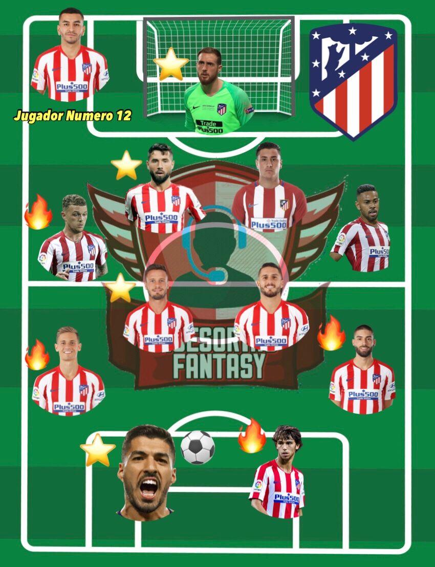 Once tipo Atletico de Madrid