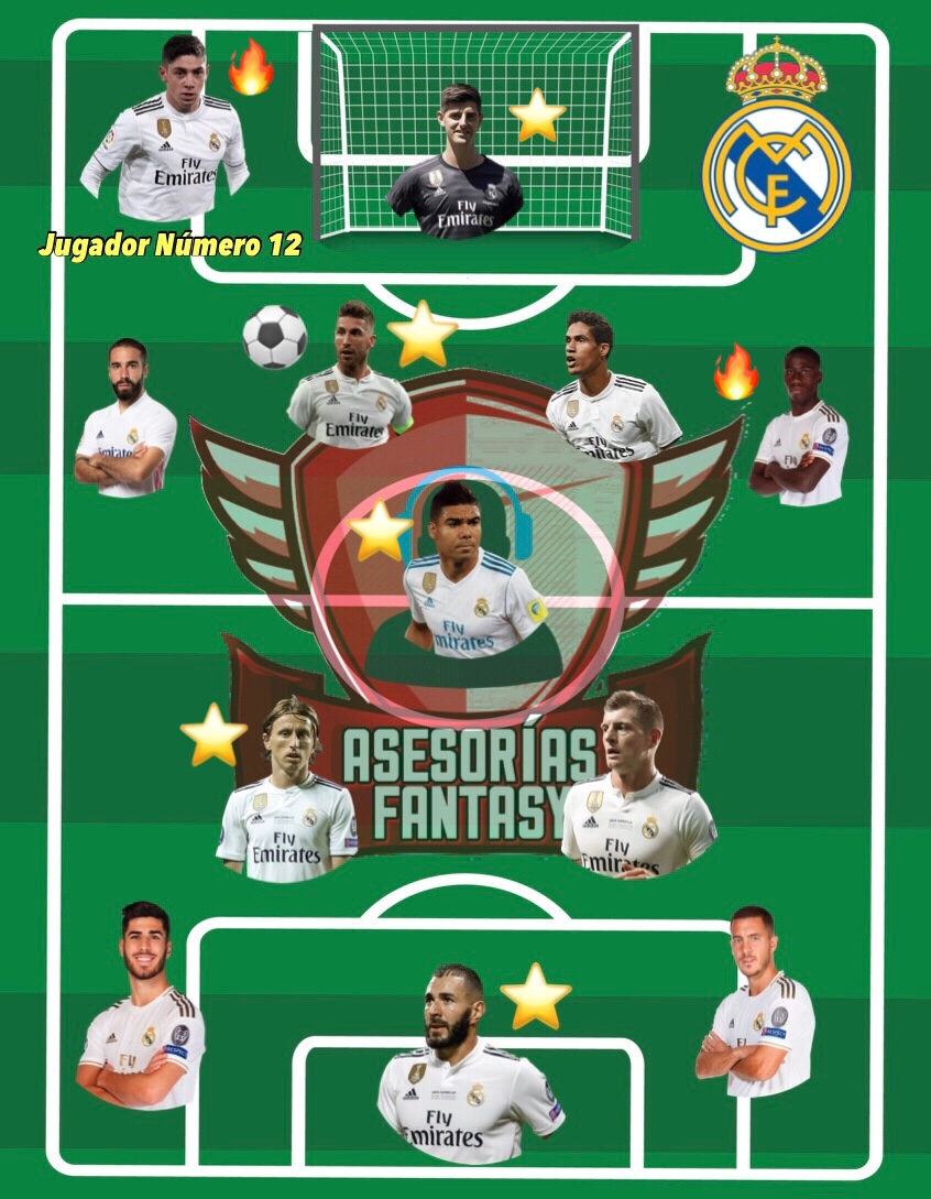 Once tipo Real Madrid
